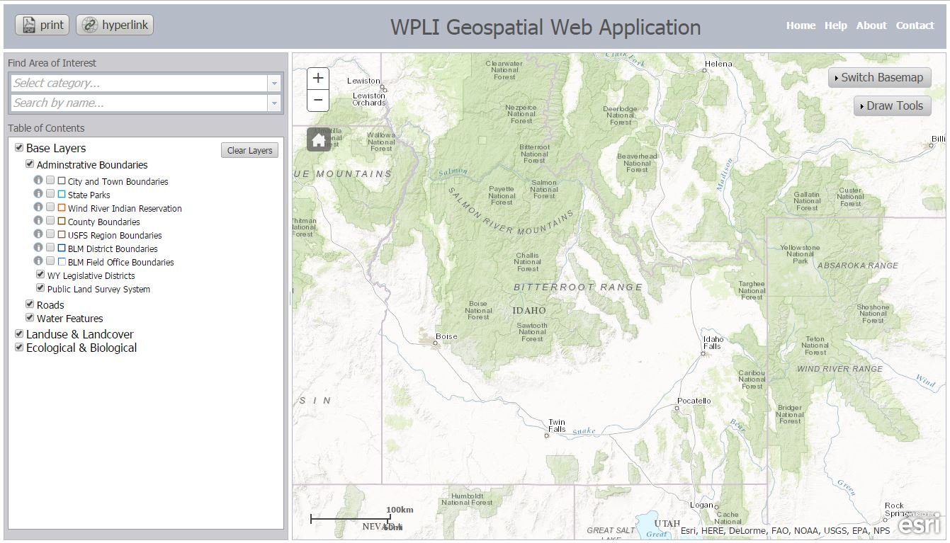 WPLI Resource Mapping Tool overview